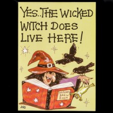 Yes... The Wicked Witch Does Live Here Postkaart