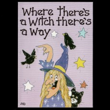 Where There's A Witch There's A Way Postkaart