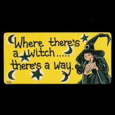 Where There's A Witch... There's A Way Koelkastmagneet