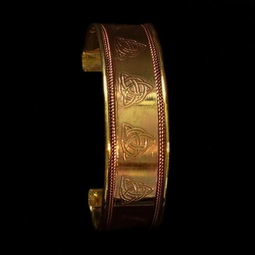 Koperen Armband Triquetra