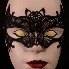 Masker Zwart Kant Vleermuis