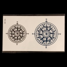 Tijdelijke Tatoeages Kompas
