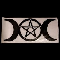 Vinylsticker Godin Pentagram (Cutout)