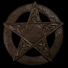 Muurhanger Pentagram Hout