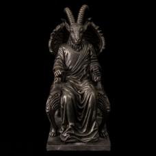 Beeld Satan op Troon