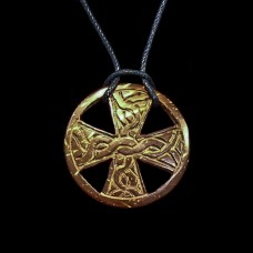 Ketting Keltisch Kruis Hout