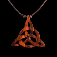 Ketting Triquetra Hout