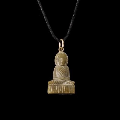Hanger Boeddha Zeepsteen en Zilver