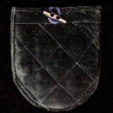 Zwart Fluwelen Zakje met Knoop