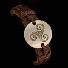 Armband Triskele Leer