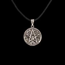 Levensboom Pentagram Hanger Zilver Klein