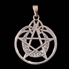 Hanger Maansikkel Pentagram Zilver 3