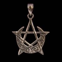 Hanger Maansikkel Pentagram Zilver 2