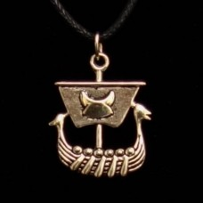 Hanger Vikingschip Zilverkleurig