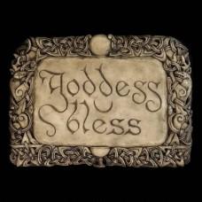 Plaque Goddess Bless Grijs