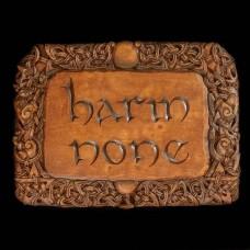 Plaque Harm None Bruin