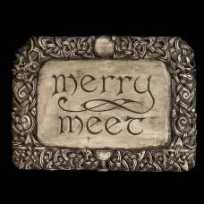 Plaque Merry Meet Grijs