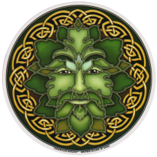 Raamsticker Green Man