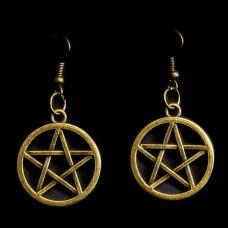 Oorbellen Pentagram Bronskleurig